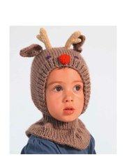 modèle de tricot cagoule enfant milkshake vanille/fraise : Chapeau, bonnet par