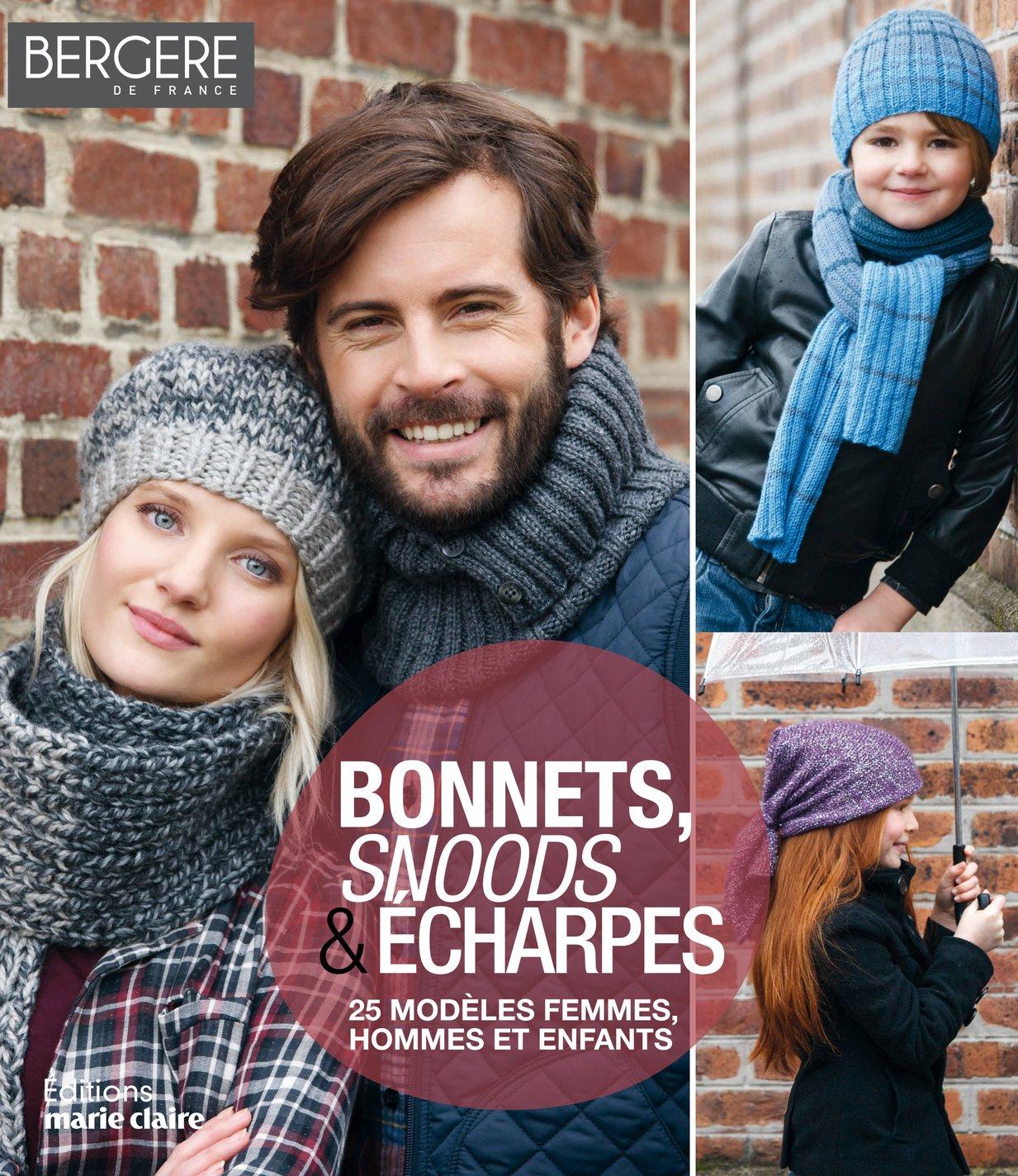 Bonnets, snoods et écharpes, 25 modèles, éditions Marie Claire ... 4ce1e7261cd